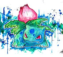 Cool IVYSAUR Watercolor Tshirts + More! ' Pokemon ' Jonny2may by Jonny2may