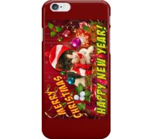 Christmas kitty cards iPhone Case/Skin