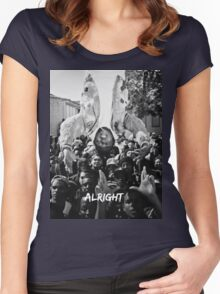 Kendrick Lamar - Alright (Music Video) Women's Fitted Scoop T-Shirt
