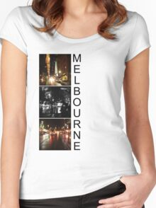 Melbourne shines at night 2 Women's Fitted Scoop T-Shirt