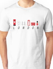 London in 6 Letters Unisex T-Shirt