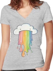 Cloud Vomit Women's Fitted V-Neck T-Shirt