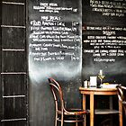 Blackboard Menu by Karen E Camilleri