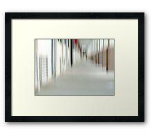 When Danika Through a Hallway Goes Framed Print