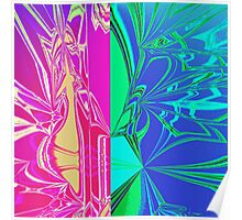 Abstract Spider Web Poster