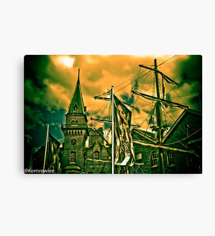 The difference between stupidity and genius is that genius has its limits. Albert Einstein...:) Canvas Print