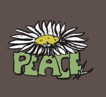 Peace Flower - White Baby Tee