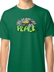 Peace Flower - White Classic T-Shirt