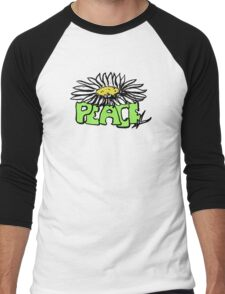 Peace Flower - White Men's Baseball ¾ T-Shirt