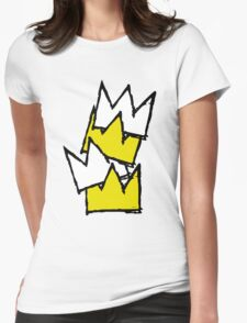 Stacked Crowns Womens Fitted T-Shirt