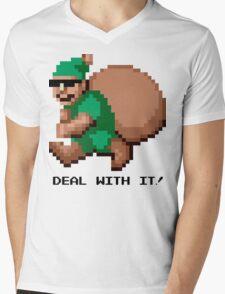 Deal With It! Green Elf Mens V-Neck T-Shirt