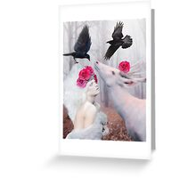 ~ The White Deer ~ Greeting Card