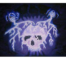 LIGHTNING SKULL Photographic Print