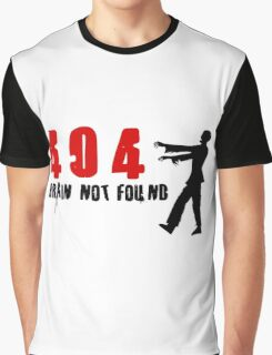 404 - Brain not found Graphic T-Shirt