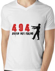 404 - Brain not found Mens V-Neck T-Shirt