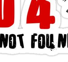 404 - Brain not found Sticker