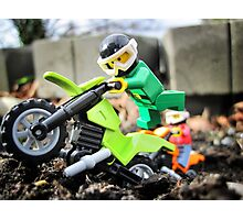 Will likes bikes. Photographic Print