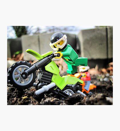 Will likes bikes. Photographic Print