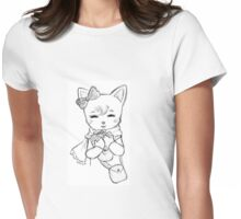 Kitten with a Present Womens Fitted T-Shirt