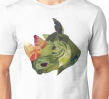 green rhino portrait Unisex T-Shirt