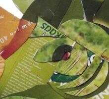 green rhino portrait Sticker