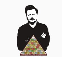 Ron Swanson Pyramid Of Greatness by minchb