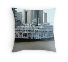 SteamBoat New Orleans Throw Pillow