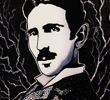 Nikola Tesla by azummo