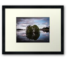 Clatto Trees In The Water Framed Print