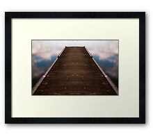 Walkway In The Sky Framed Print