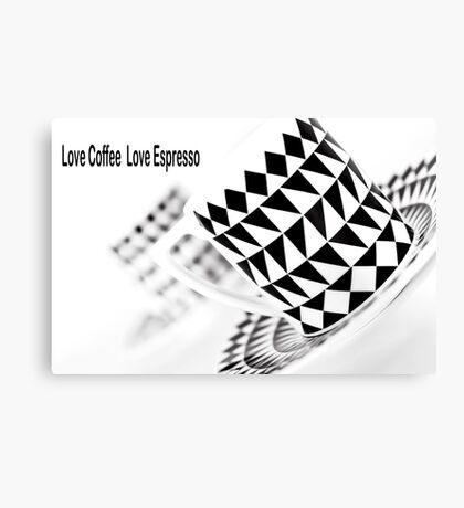 Love Coffee Love Espresso Canvas Print