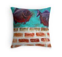 Piranha Throw Pillow