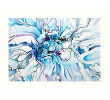 Sub-Atomic Stress Release Therapy - Watercolor Painting Art Print