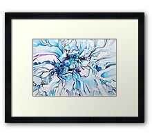 Sub-Atomic Stress Release Therapy - Watercolor Painting Framed Print