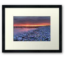 Churn Sunset (HDR) Framed Print