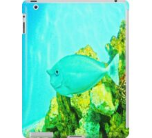 Fish between green and blue. iPad Case/Skin
