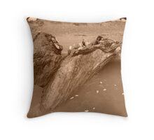 beach monster Throw Pillow
