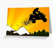 atv dirt trail Greeting Card