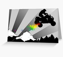 quads dirt trail Greeting Card