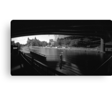 """Pinhole Study of the """"Colonel By"""" Canal Canvas Print"""