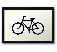 bike silhouette Framed Print