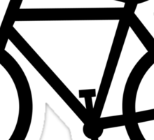 bike silhouette Sticker