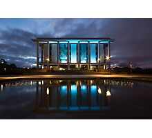 National Library Canberra Australia Moody Blue Photographic Print