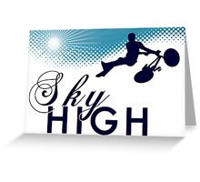 sky high bmx Greeting Card