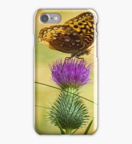 Fritillary On Thistle 2013-2 iPhone Case/Skin