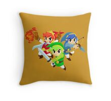 Triforce Heroes Throw Pillow