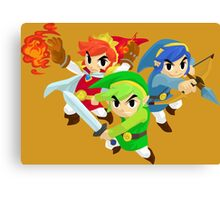 Triforce Heroes Canvas Print