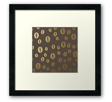 Gold coffee beans pattern Framed Print