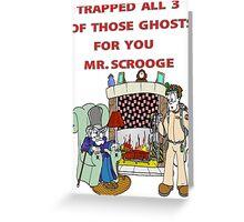 Ghostbusters Christmas Carol Greeting Card