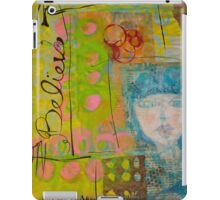 Blue Girl Journal Page iPad Case/Skin